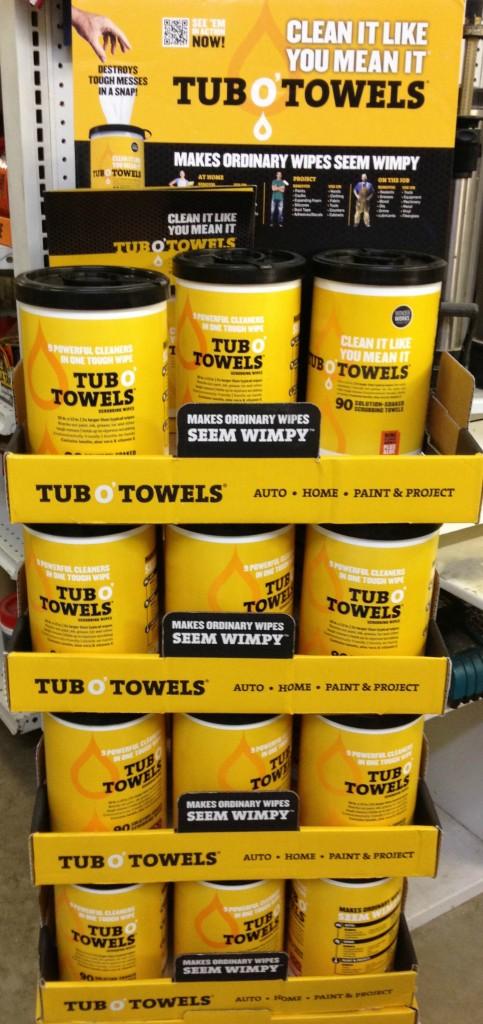 tub o towels 483x1024 New Product: Tub OTowels