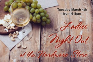 ladies night march2013 post img 300x199 Ladies Night Out at the Hardware Store