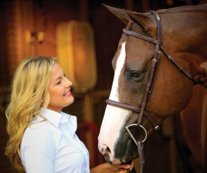 blonde lady with horse 300x251 Newly Formulated: Equine Senior & Senior Active