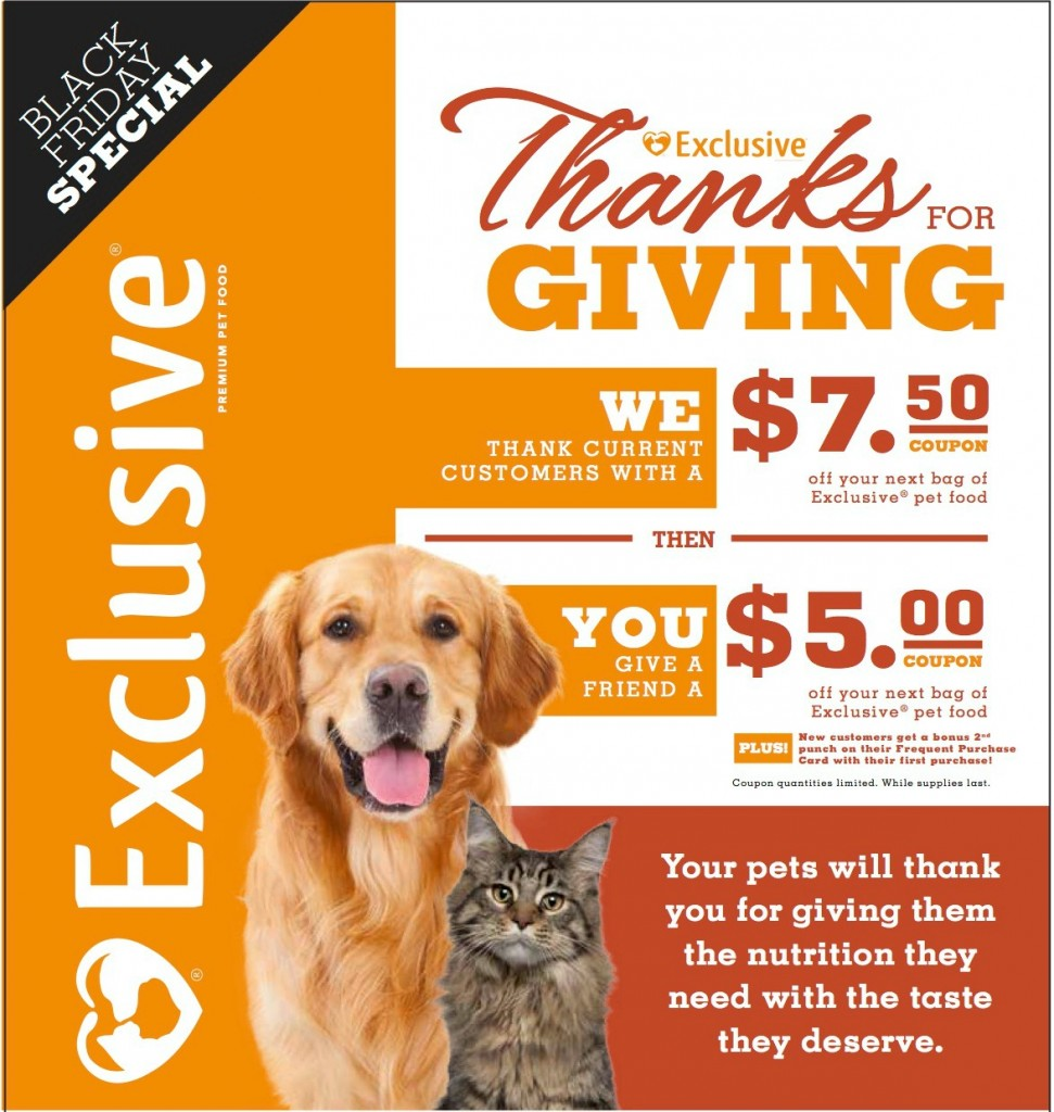 Thanks for Giving Ad Slick.cropped 971x1024 Thanks for Giving : Purina Exclusive Pet Food